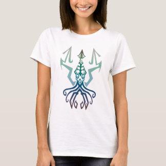 Calamar tribal camiseta
