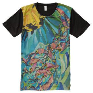 Calamares Camisetas Com Impressão Frontal Completa