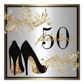 Calçados da dança - 50th convite fabuloso do