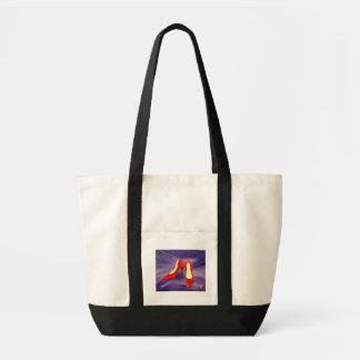 Calçados vermelhos - saco bolsa tote