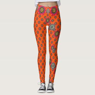Calças alaranjadas deliciosas leggings