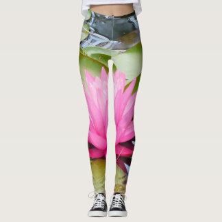 calças da ioga dos lótus leggings