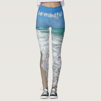 calças justas da ioga da caminhada da praia leggings