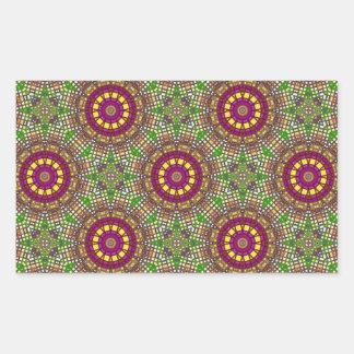 Caleidoscópio 2 do mosaico de Morrocan Adesivos Em Forma Retangular