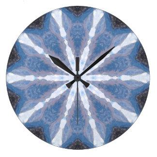 Caleidoscópio abstraído relógio grande