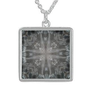 Caleidoscópio cinzento místico da pena bijuteria personalizada