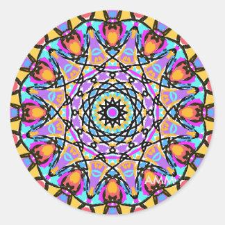 Caleidoscópio da flor do divertimento adesivo