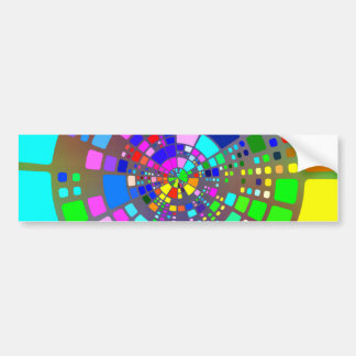 Caleidoscópio de azulejos do arco-íris adesivo para carro