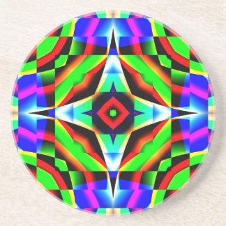 Caleidoscópio do arco-íris porta copos de arenito