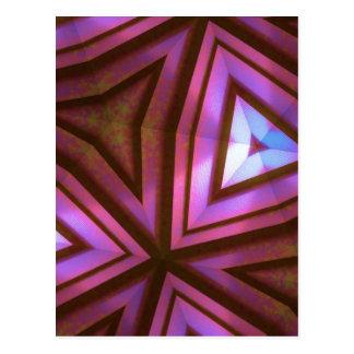 Caleidoscópio fúcsia cartão postal