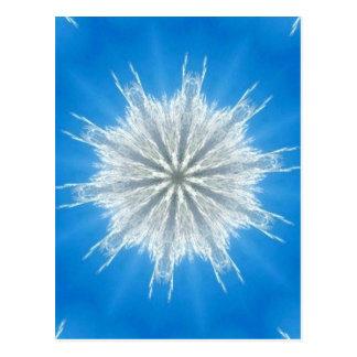 Caleidoscópio macio macio do floco de neve cartão postal