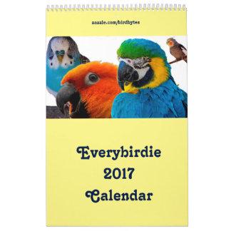 """Calendário 17"""" de Everybirdie 2017 x 11"""" única"""