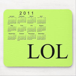 Calendário 2011 de mesa mouse pad