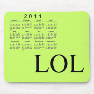 Calendário 2011 de mesa mousepad