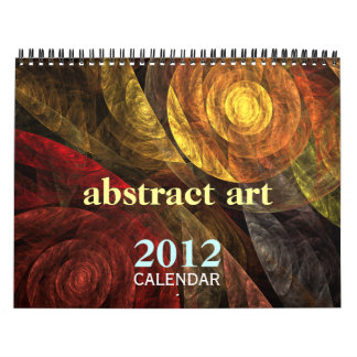 Calendário 2012 das belas artes da arte abstracta