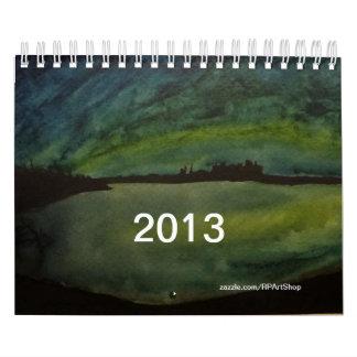 Calendário 2013 da arte da aguarela