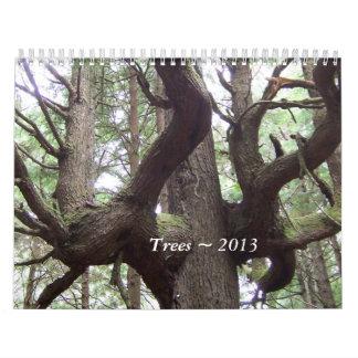 Calendário ~ 2013 das árvores