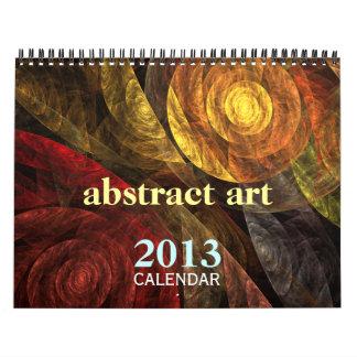 Calendário 2013 das belas artes da arte abstracta