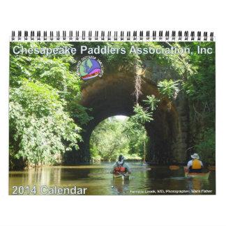 Calendário 2014 da associação dos Paddlers do