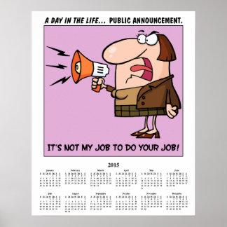 Calendário 2015 Overworked Pôsteres