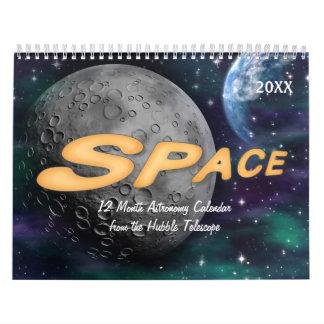 Calendário 2018 da astronomia de espaço