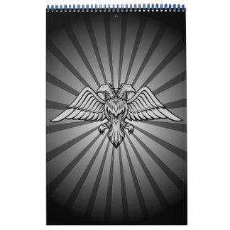 Calendário Águia cinzenta com duas cabeças