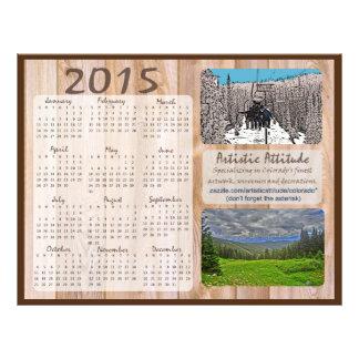Calendário anual do promo do zazzle de Colorado Flyer 21.59 X 27.94cm