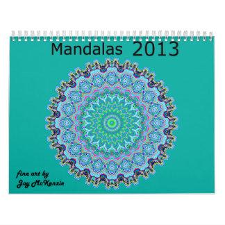 Calendário As mandalas Calendar 2013