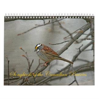 Calendário Aves canoras das pradarias canadenses