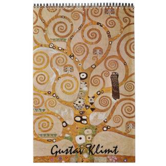 Calendário Belas artes de Gustavo Klimt, arte Nouveau do