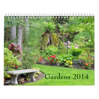 Calendário bonito do impressão do jardim