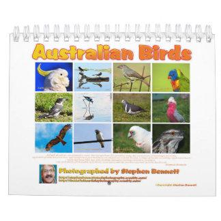Calendário Calendário: Fotografias australianas dos pássaros