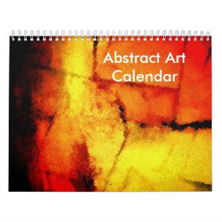 Calendário Criação moderna dos trabalhos de arte do