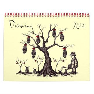 Calendário da arte 2014 do desenho