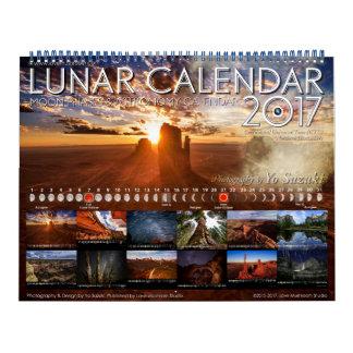 Calendário da astronomia das fases da lua do