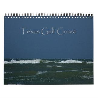 Calendário da costa do golfo de Texas