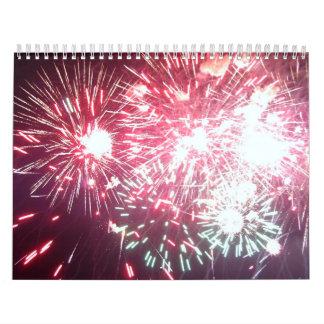 Calendário da foto dos fogos-de-artifício