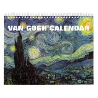 Calendário das pinturas 2018 de Van Gogh