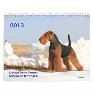 Calendário de galês Terrier 2013 por Darwyn