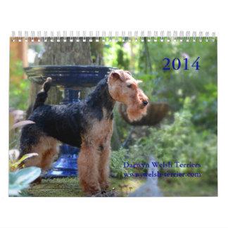 Calendário de galês Terrier 2014 por Darwyn