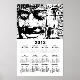 Calendário de pedra… Cambodia da cara 2012 do Khme Impressão