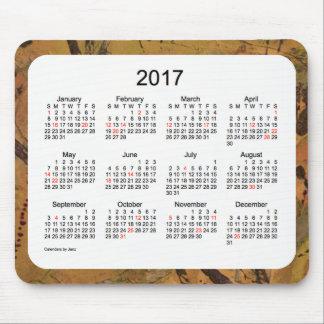 Calendário de uma arte de 2017 feriados pelo mouse pad
