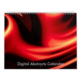 Calendário do abstrato 2018 do computador das