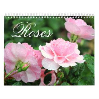 Calendário do costume dos rosas