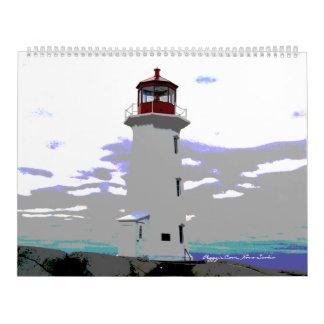 Calendário do farol de Nova Escócia da angra de