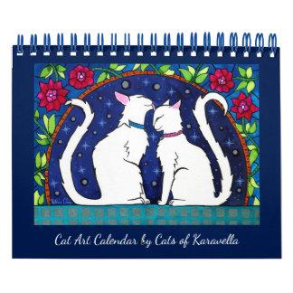 Calendário Calendário do gato por gatos da oficina de
