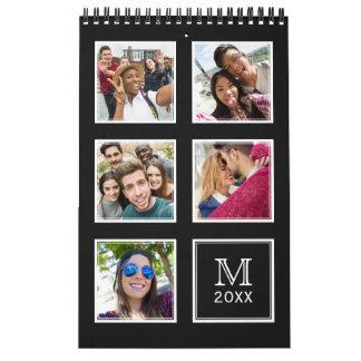 Calendário do SEU costume das fotos & do monograma