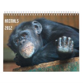 Calendário dos animais 2012