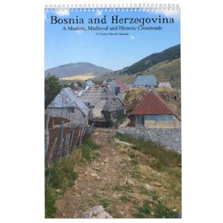 Calendário Estradas transversaas medievais modernas de Bósnia