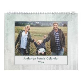 Calendário Foto de família abstrata moderna da aguarela